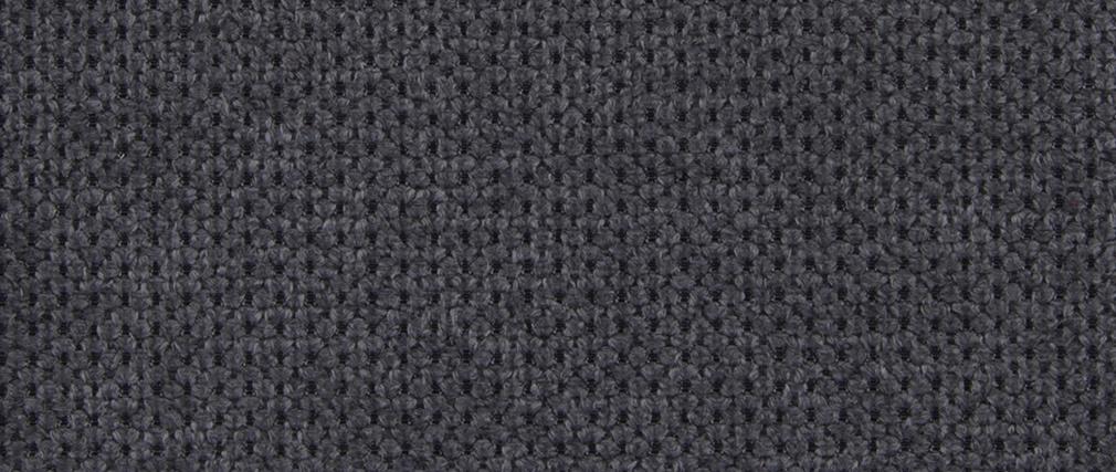 Canapé convertible avec têtières ajustables effet velours gris anthracite NORO