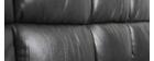 Canapé convertible cuir 3 places gris MANHATTAN - cuir de vache