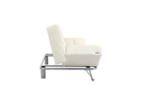 Canapé convertible cuir blanc 3 places Manhattan