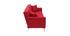 Canapé convertible design 3 places en tissu rouge ELIN