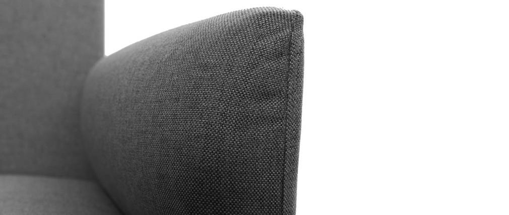 canap convertible design 3 places gris clair elin miliboo. Black Bedroom Furniture Sets. Home Design Ideas