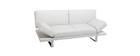 Canapé convertible design blanc ATLANTA