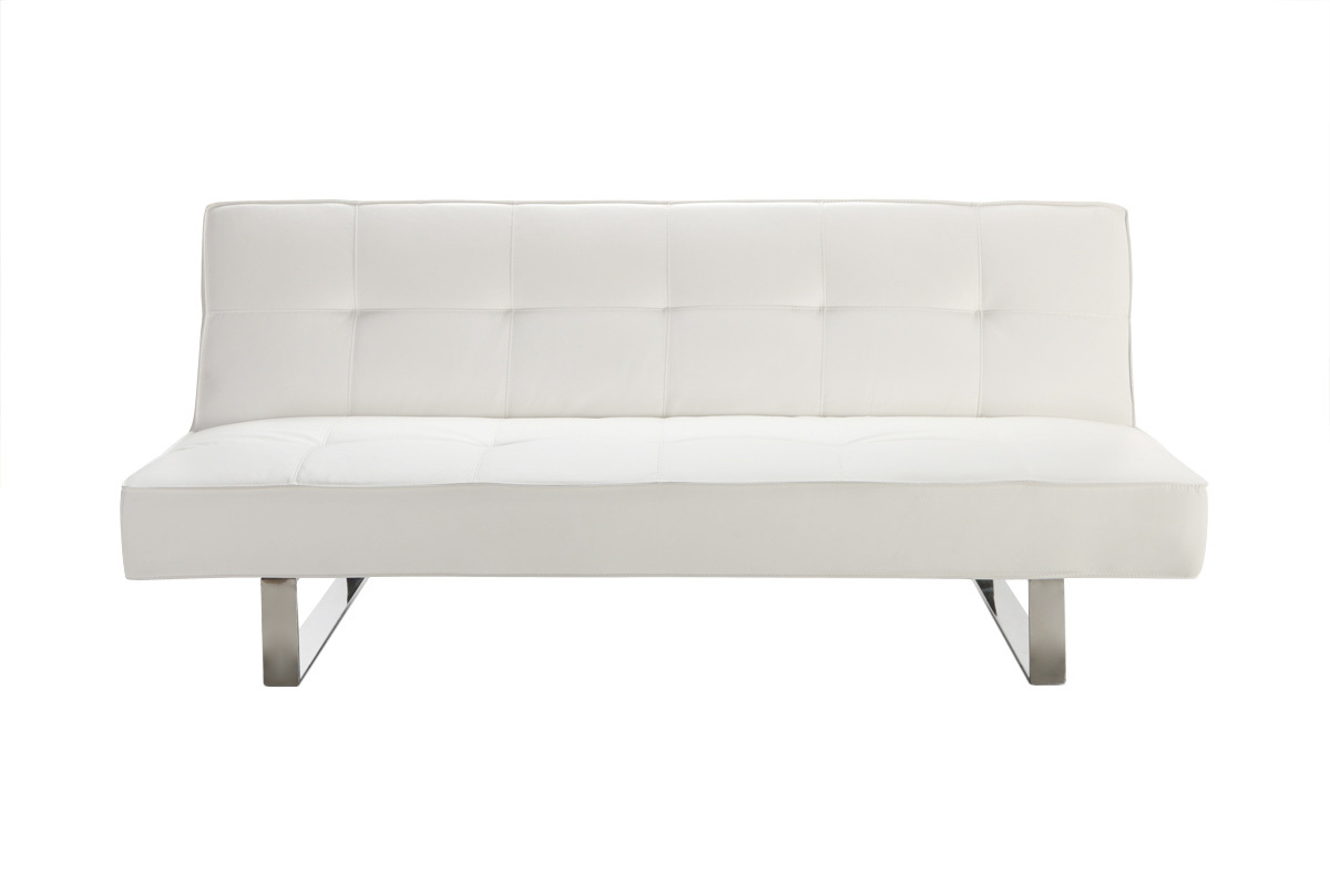 canap convertible design blanc charleston miliboo. Black Bedroom Furniture Sets. Home Design Ideas