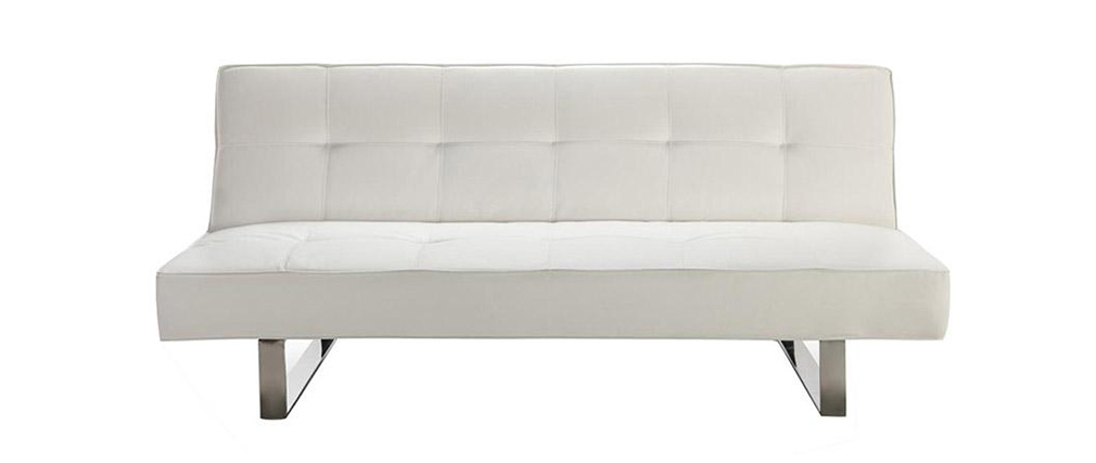 Canapé convertible design blanc CHARLESTON