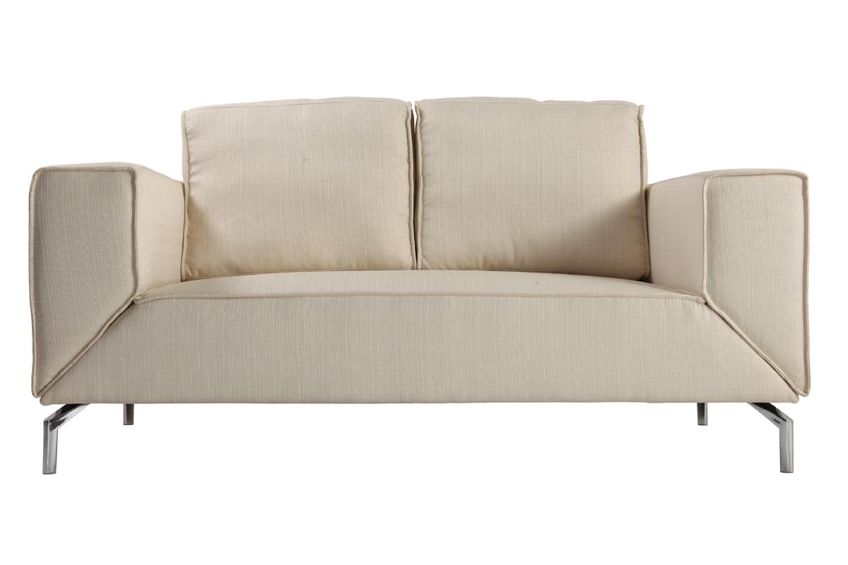canap convertible design blanc toledo miliboo. Black Bedroom Furniture Sets. Home Design Ideas