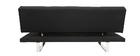 Canapé convertible design en tissu noir ATLANTA