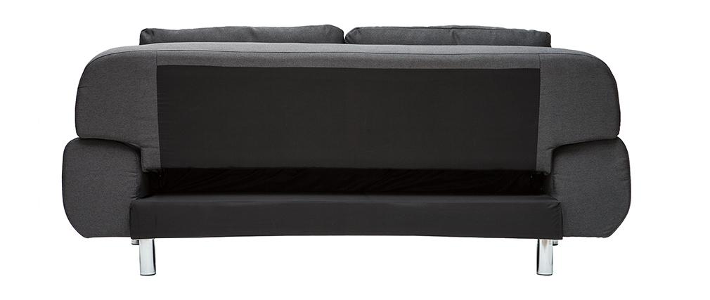 Canapé convertible design gris anthracite TULSA
