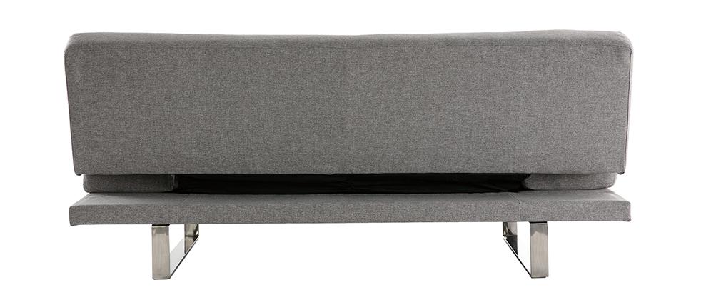 Canapé convertible design gris ATLANTA