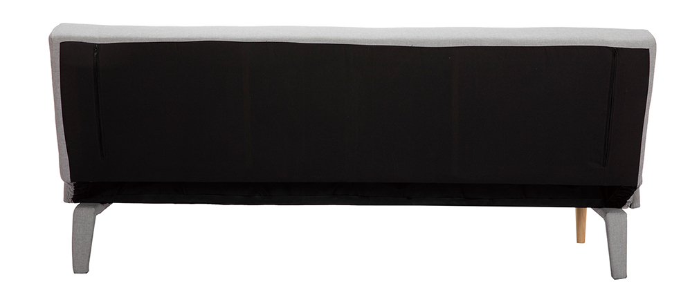 Canapé convertible design gris clair OSCAR