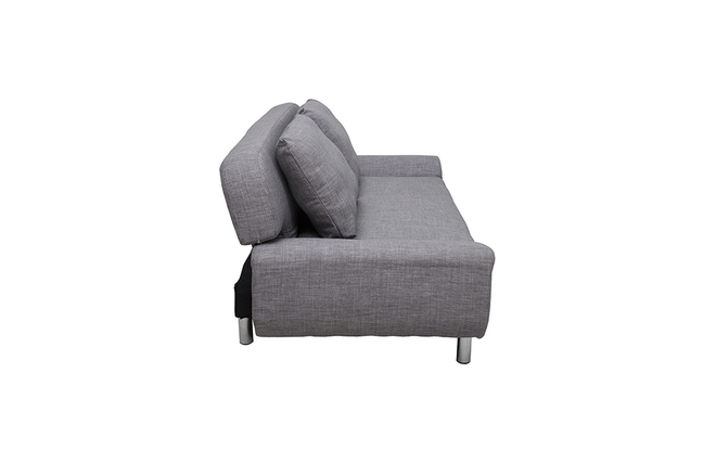 Canap convertible design gris clair tulsa miliboo for Canape convertible gris clair