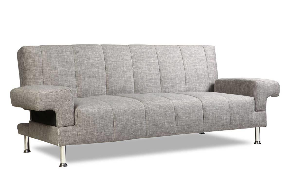 canap convertible design gris denver miliboo. Black Bedroom Furniture Sets. Home Design Ideas