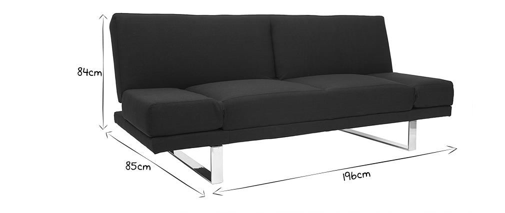 Canapé convertible design noir ATLANTA