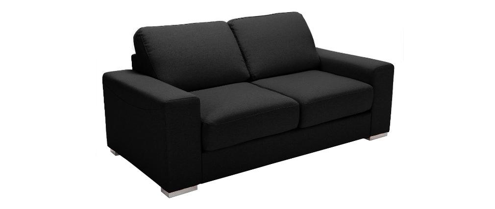 Canapé convertible design noir HAMILTON