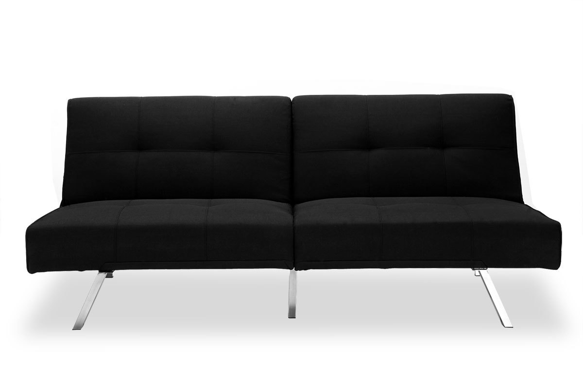 canap convertible design noir hudson miliboo. Black Bedroom Furniture Sets. Home Design Ideas