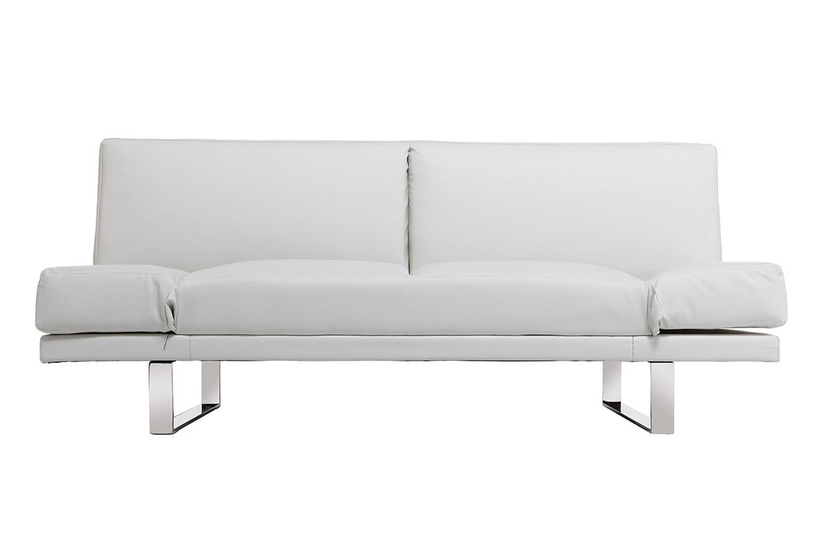 Canap convertible design pu blanc atlanta miliboo for Aureole sur canape tissu