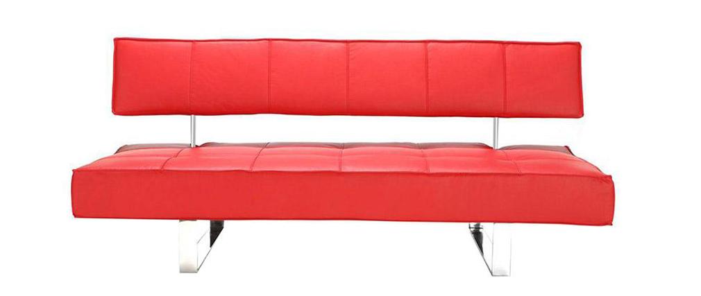 Canapé convertible design rouge BROADWAY