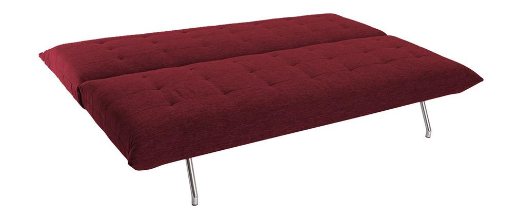 Canapé convertible design rouge OVE