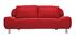 Canapé convertible design rouge TULSA