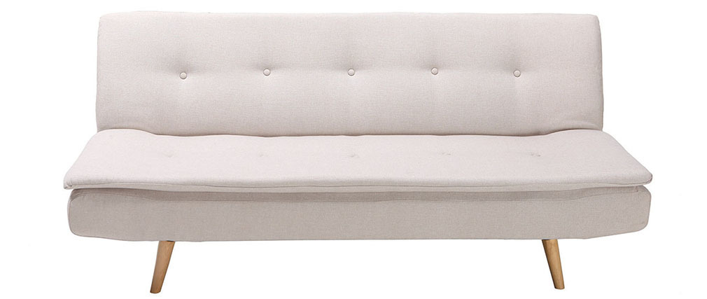 Canapé convertible design scandinave 3 places beige SENSO