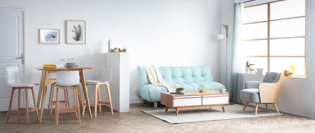 Canapé convertible design scandinave menthe à l