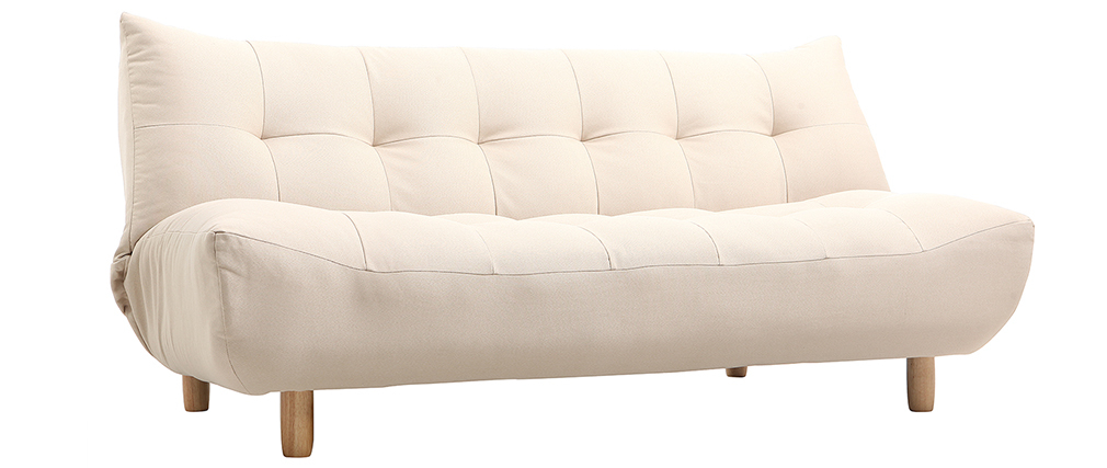 Canapé convertible design scandinave naturel YUMI