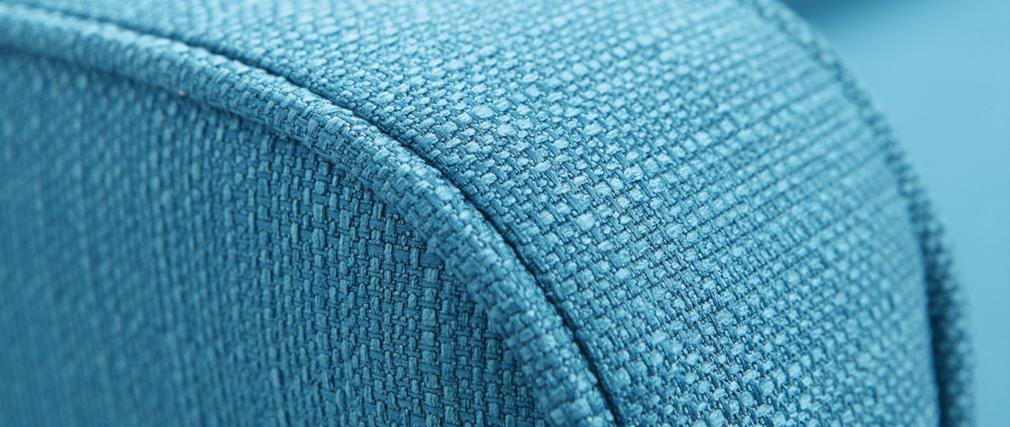 Canapé convertible scandinave 3 places bleu canard ULLA