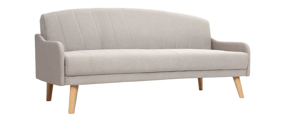 Canapé convertible scandinave 3 places gris ARYA