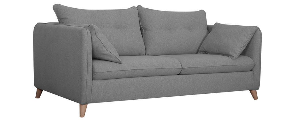 Canapé convertible scandinave 3 places gris clair GUILTY