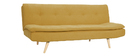 Canapé convertible scandinave 3 places jaune moutarde SENSO
