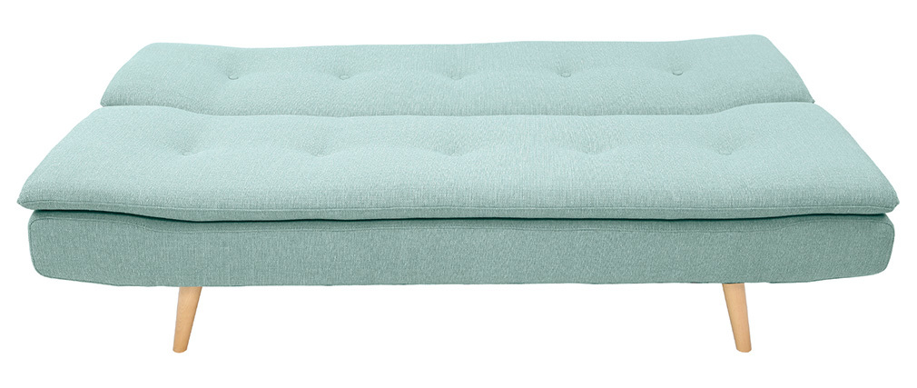 Canapé convertible scandinave 3 places vert lagon SENSO