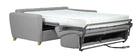 Canapé convertible scandinave gris clair avec matelas 18 cm GRAHAM