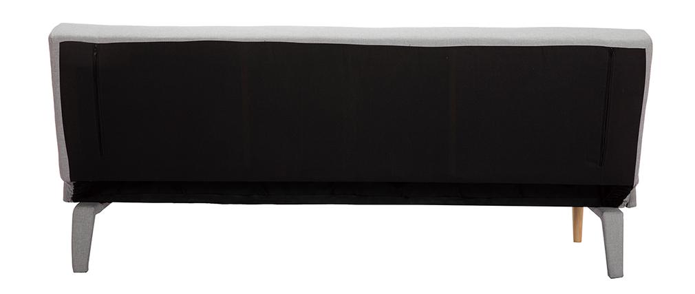 Canapé convertible scandinave gris clair OSCAR