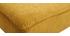 Canapé convertible tissu effet velours jaune moutarde scandinave 3 places SENSO