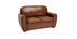 Canapé cuir 2 places vintage marron CLUB