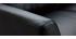 Canapé cuir 3 places noir JOPLIN - cuir de buffle