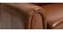 Canapé cuir 3 places vintage marron CLUB