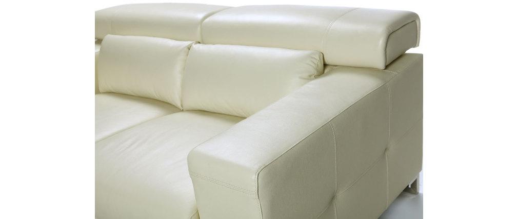 Canap cuir design beige deux places t ti res relax beige arizona cuir de v - Canape deux places relax ...