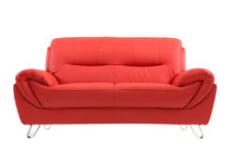 Canapé cuir design rouge 2 places KANSAS