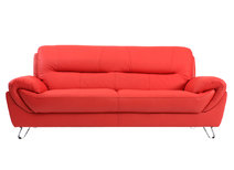 Canapé cuir design rouge 3 places KANSAS