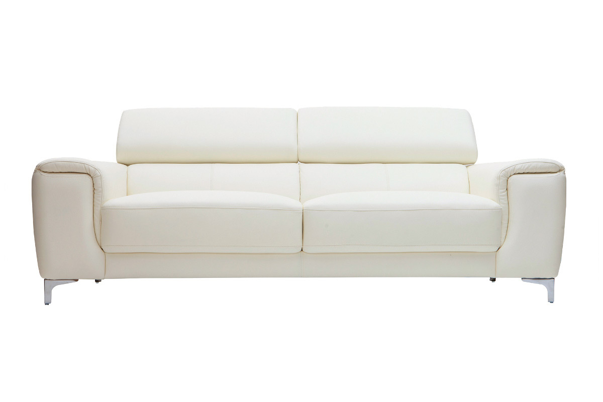 Pvc guide d 39 achat for Canape cuir blanc