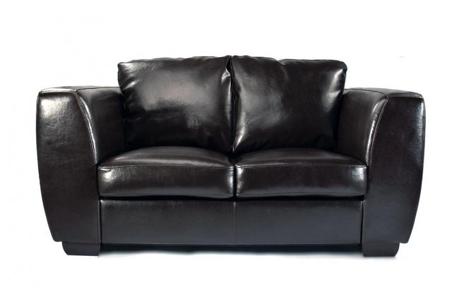 Canap cuir noir 2 places chicago cuir de buffle miliboo - Canape 2 places cuir buffle ...