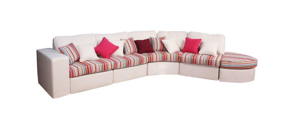 canap d 39 angle arrondi 8 places modulaire miliboo. Black Bedroom Furniture Sets. Home Design Ideas