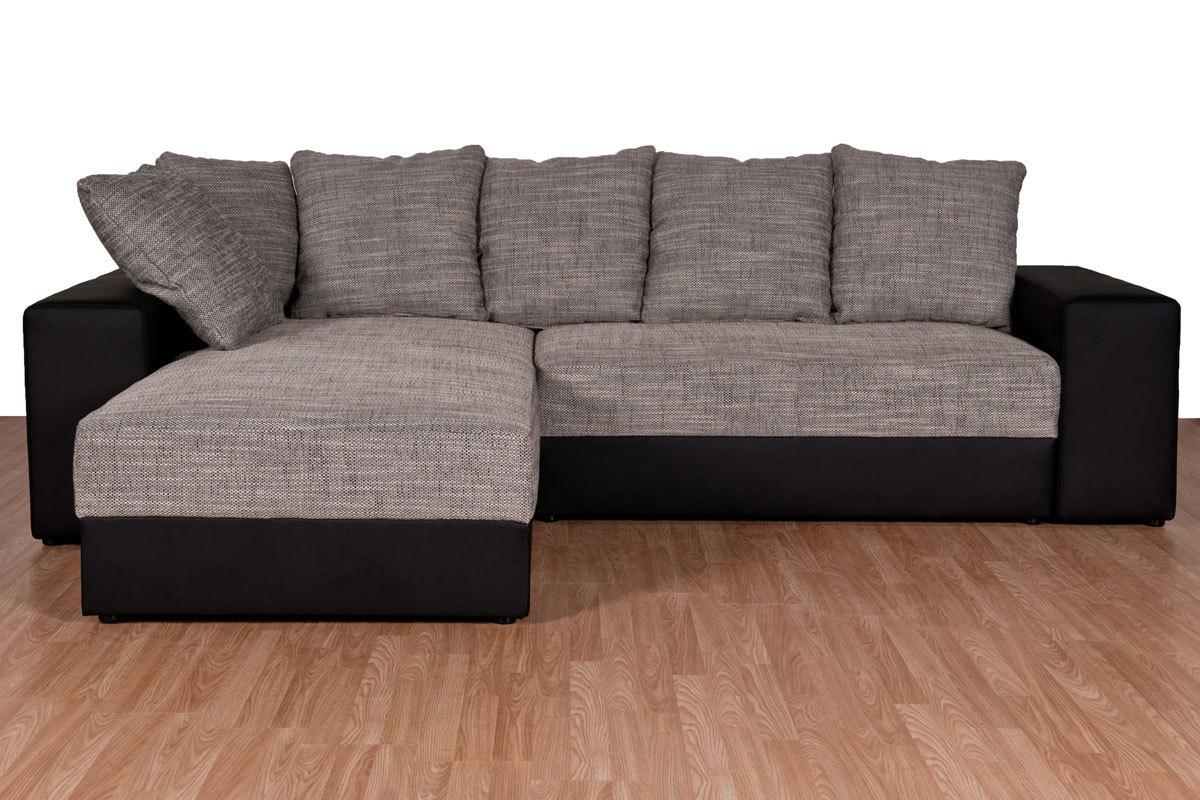 canap d 39 angle convertible design gris et noir ioawa miliboo. Black Bedroom Furniture Sets. Home Design Ideas