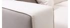 Canapé d'angle design beige 4 places (angle droit) ELMETT