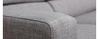 Canapé d'angle design gris (angle gauche) PORTLAND