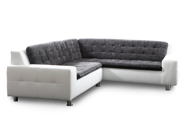 canap d 39 angle design gris et blanc kinley miliboo. Black Bedroom Furniture Sets. Home Design Ideas