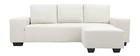 Canapé d'angle design tissu blanc cassé 3 places DEAUVILLE