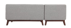 Canapé d'angle design VILA gris