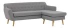 Canapé d'angle droit design 3 places gris clair LOFA