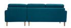 Canapé d'angle droit scandinave bleu canard CODDY